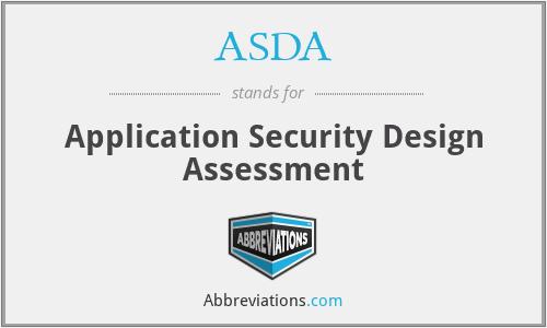ASDA - Application Security Design Assessment