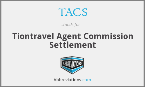 TACS - Tiontravel Agent Commission Settlement