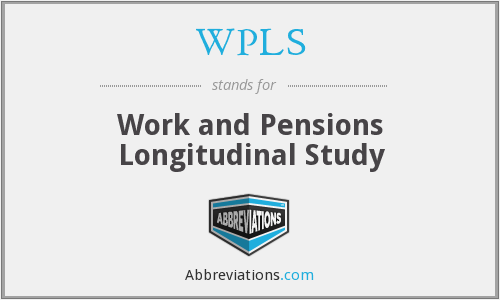 WPLS - Work and Pensions Longitudinal Study