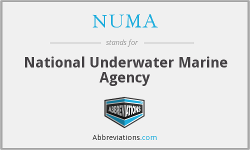 NUMA - National Underwater Marine Agency