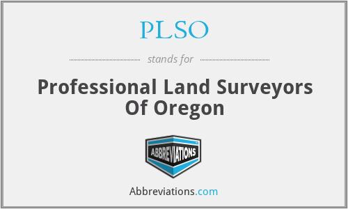 PLSO - Professional Land Surveyors Of Oregon