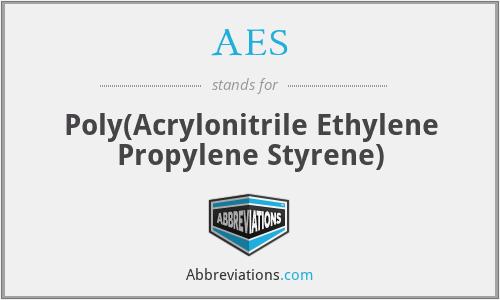 AES - Poly(Acrylonitrile Ethylene Propylene Styrene)