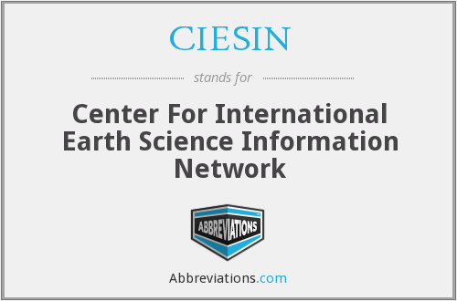 What does CIESIN stand for?