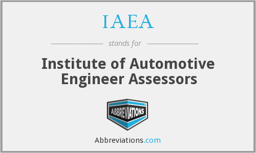 IAEA - Institute of Automotive Engineer Assessors