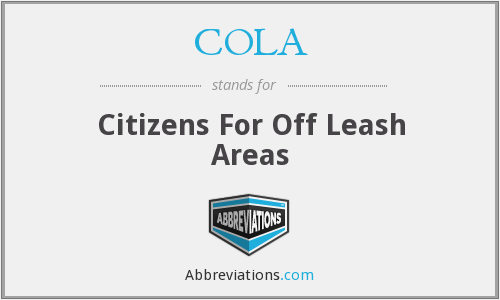 COLA - Citizens For Off Leash Areas