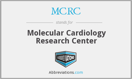 MCRC - Molecular Cardiology Research Center