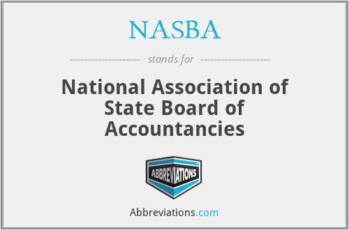 NASBA - National Association of State Board of Accountancies