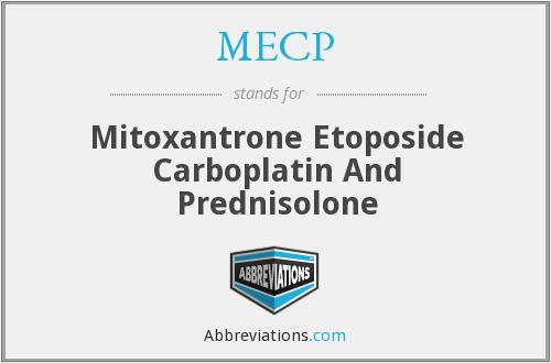 MECP - Mitoxantrone Etoposide Carboplatin And Prednisolone