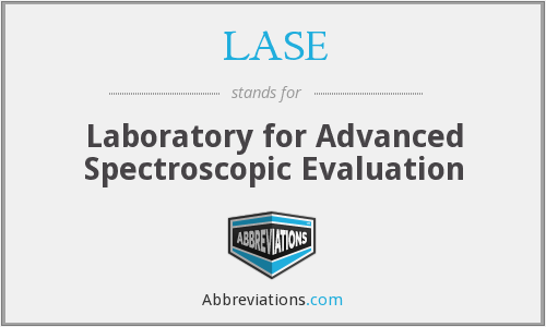 LASE - Laboratory for Advanced Spectroscopic Evaluation