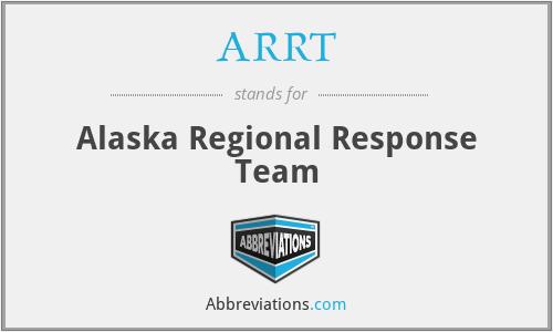 ARRT - Alaska Regional Response Team