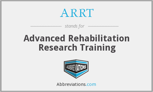 ARRT - Advanced Rehabilitation Research Training
