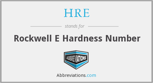 HRE - Rockwell E Hardness Number