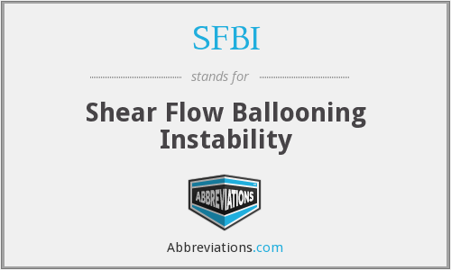 SFBI - Shear Flow Ballooning Instability