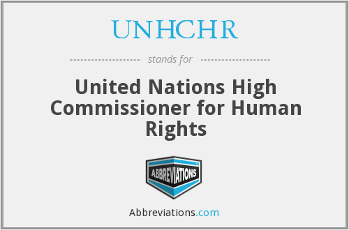What does UNHCHR stand for?