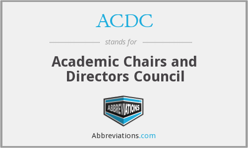 ACDC - Academic Chairs and Directors Council
