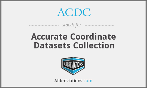 ACDC - Accurate Coordinate Datasets Collection