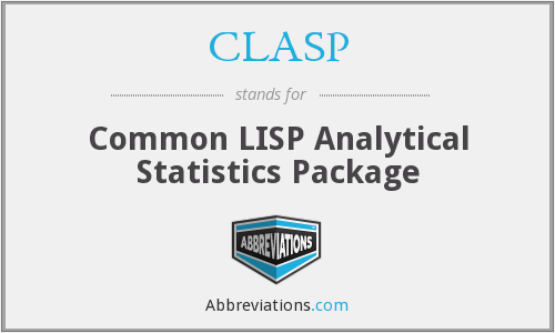 CLASP - Common LISP Analytical Statistics Package
