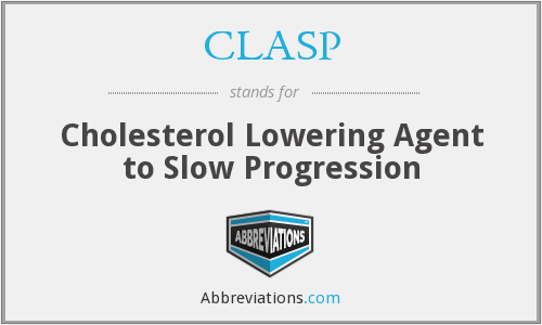 CLASP - Cholesterol Lowering Agent to Slow Progression