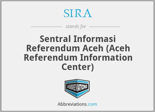 SIRA - Sentral Informasi Referendum Aceh (Aceh Referendum Information Center)