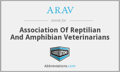 ARAV - Association Of Reptilian And Amphibian Veterinarians