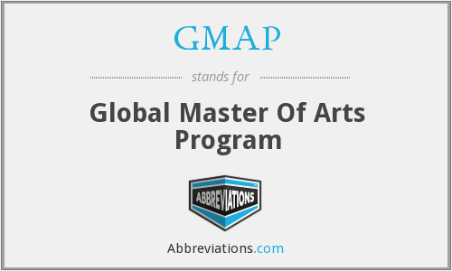 GMAP - Global Master Of Arts Program