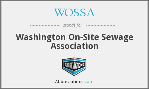 WOSSA - Washington On-Site Sewage Association