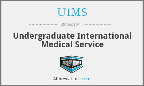 UIMS - Undergraduate International Medical Service