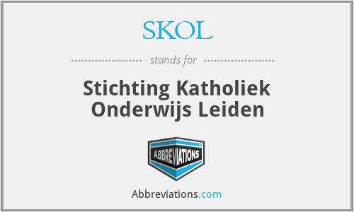 SKOL - Stichting Katholiek Onderwijs Leiden