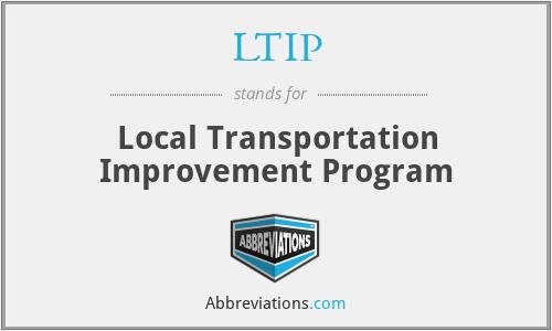 LTIP - Local Transportation Improvement Program