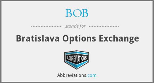 BOB - Bratislava Options Exchange