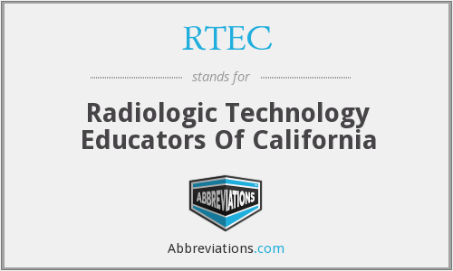 RTEC - Radiologic Technology Educators Of California