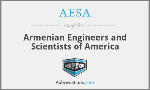 AESA - Armenian Engineers and Scientists of America