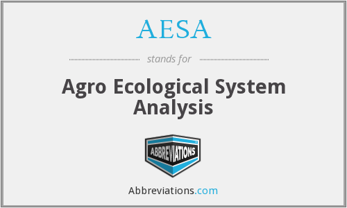 AESA - Agro Ecological System Analysis