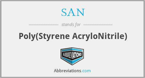 SAN - Poly(Styrene AcryloNitrile)