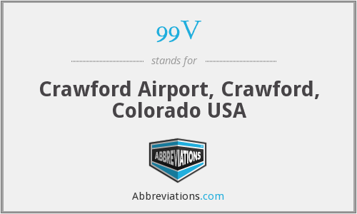 99V - Crawford Airport, Crawford, Colorado USA