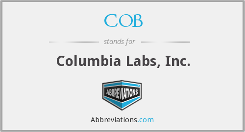 COB - Columbia Labs, Inc.