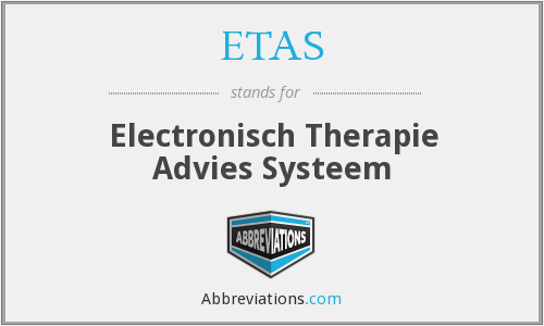 ETAS - Electronisch Therapie Advies Systeem