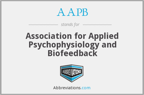 AAPB - Association for Applied Psychophysiology and Biofeedback