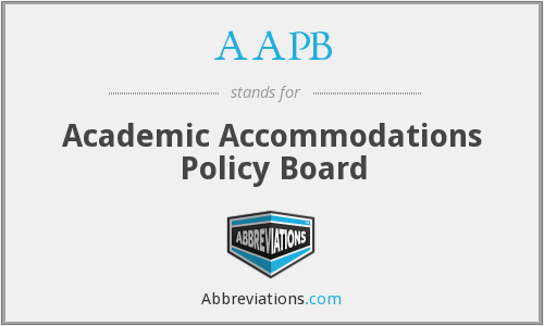 AAPB - Academic Accommodations Policy Board