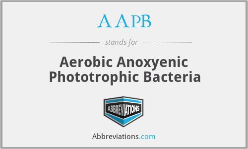 AAPB - Aerobic Anoxyenic Phototrophic Bacteria