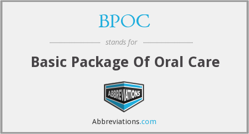 BPOC - Basic Package Of Oral Care