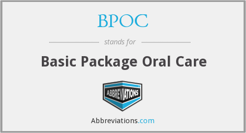 BPOC - Basic Package Oral Care