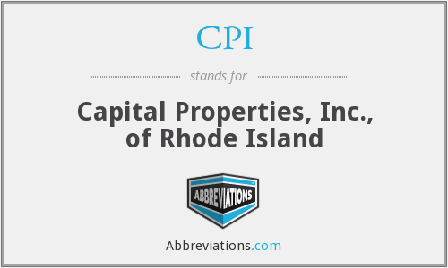 CPI - Capital Properties, Inc., of Rhode Island