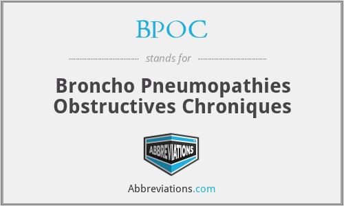 BPOC - Broncho Pneumopathies Obstructives Chroniques