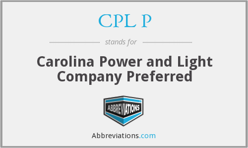 What does CPL P stand for?