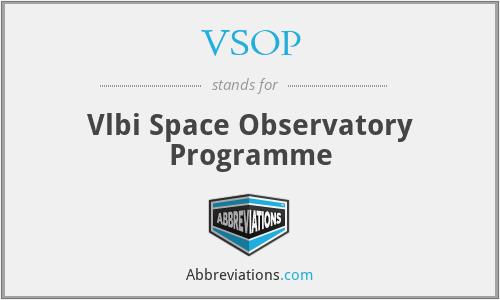 VSOP - Vlbi Space Observatory Programme