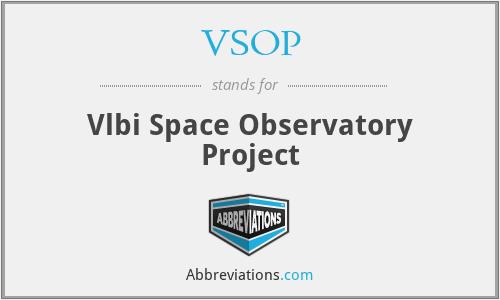 VSOP - Vlbi Space Observatory Project