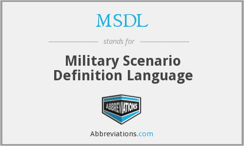 MSDL - Military Scenario Definition Language