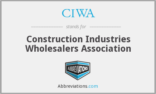 CIWA - Construction Industries Wholesalers Association