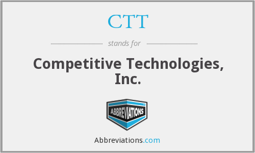 CTT - Competitive Technologies, Inc.